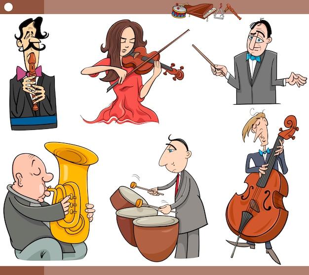Musiker zeichen legen cartoon
