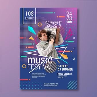 Musikereignisplakatschablone mit foto