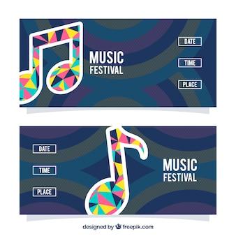 Musikfestival banner pack