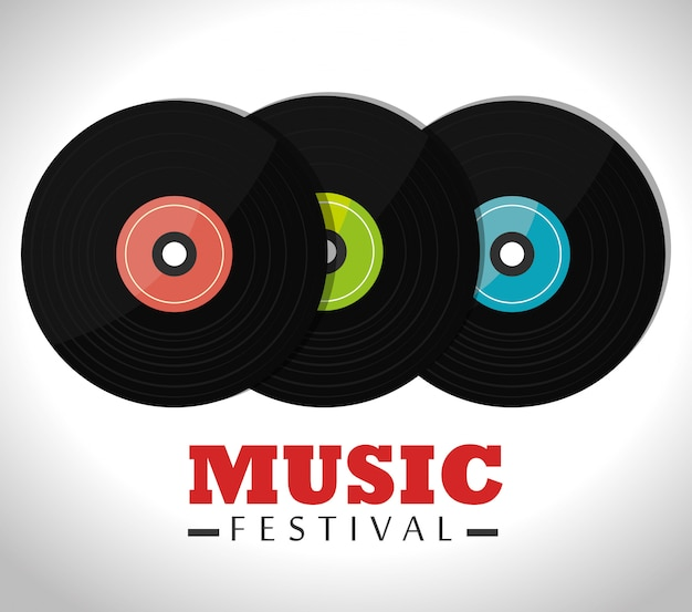 Musikfestival design.
