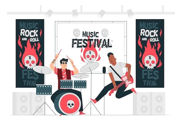 Musikfestival konzeptillustration