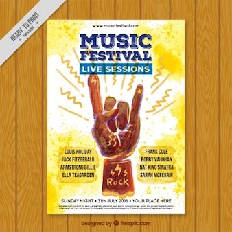 Musikfestival mit live-sessions