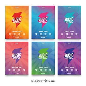 Musikfestival-plakatsammlung