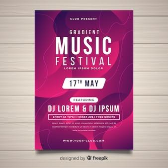 Musikfestival-plakatschablone