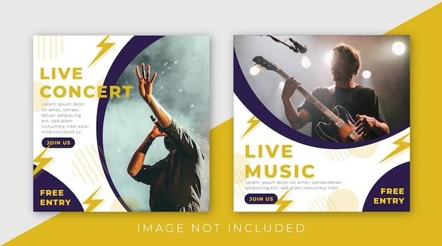 Musikfestival-social media-beitragsschablonensammlung