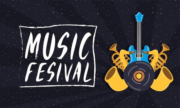 Musikfestival-unterhaltungseinladungsplakat