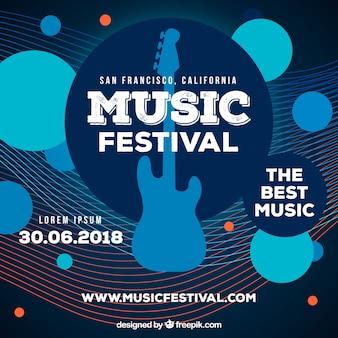 Musikfestivalhintergrund im flachen design