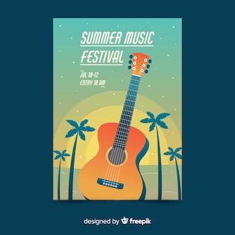 Musikfestivalplakat der steigungsillustration