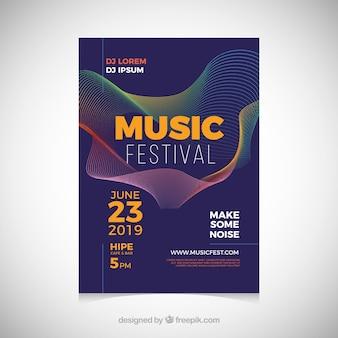 Musikfestivalplakat in der abstrakten art