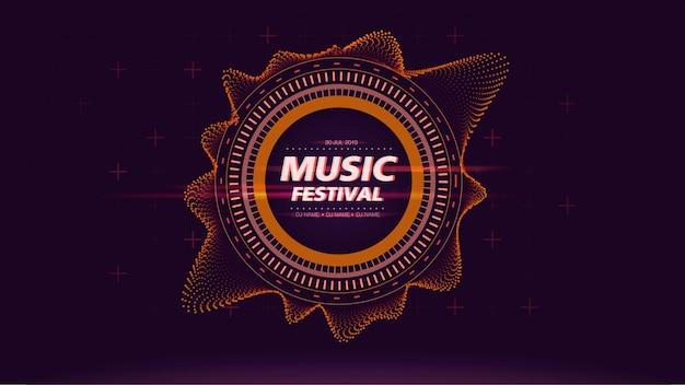 Musikfestivalweb-bildschirmhintergrund in der orange