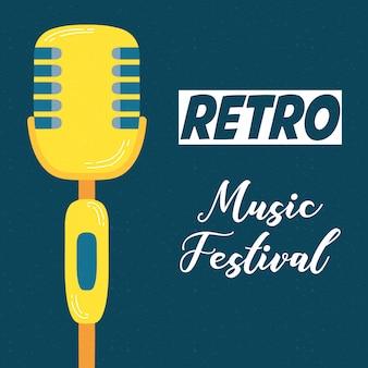 Musikfestplakat mit mikrofon