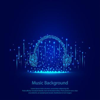Musikhintergrund mit kopfhörern