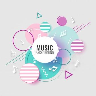 Musikhintergrund mit musikalischen anmerkungen.