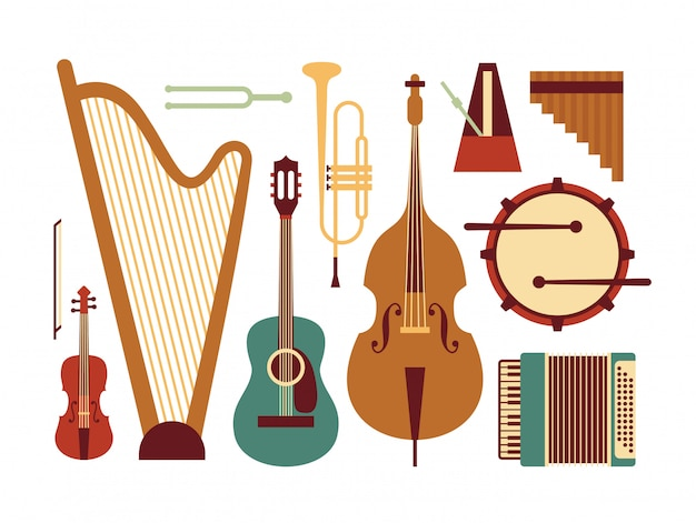 Musikinstrument illustration