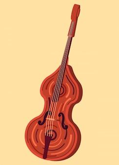 Musikinstrument kontrabass