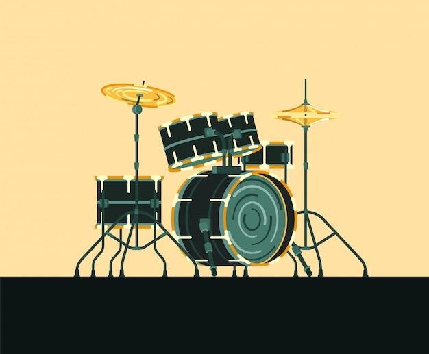 Musikinstrument schlagzeug