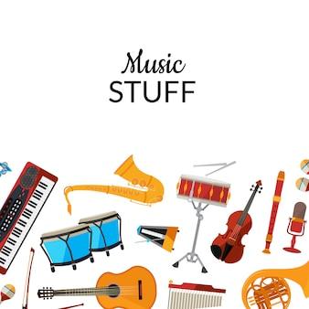 Musikinstrumente der karikatur
