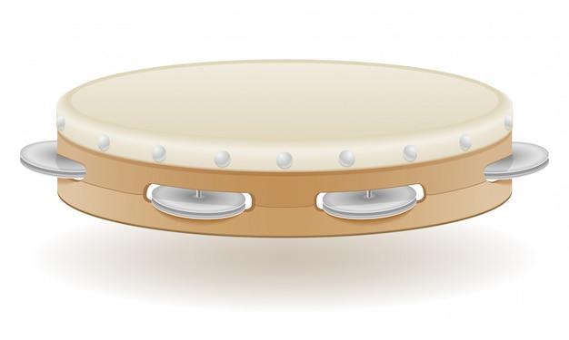 Musikinstrumente des tamburins auf lager vektorillustration