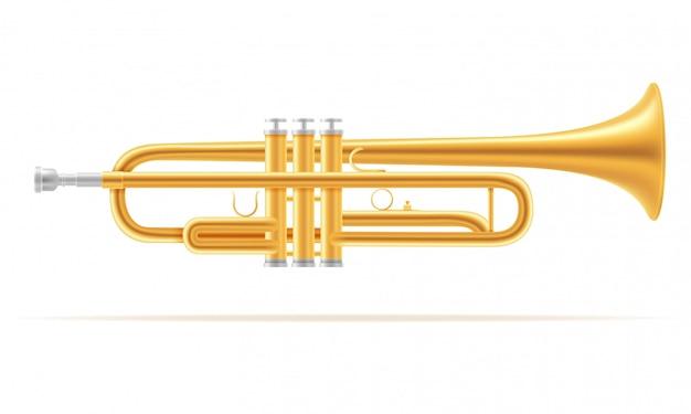 Musikinstrumente des trompetenwinds auf lager vektorillustration