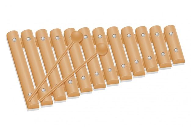 Musikinstrumente des xylophons auf lager vektorillustration