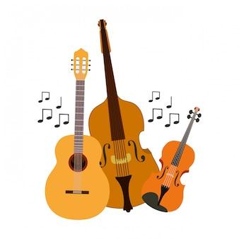 Musikinstrumente isoliert