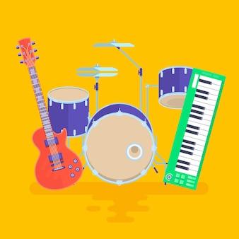 Musikinstrumente set