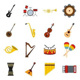 Musikinstrumente symbole festgelegt