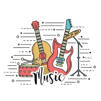 Musikinstrumente, um musik zu spielen