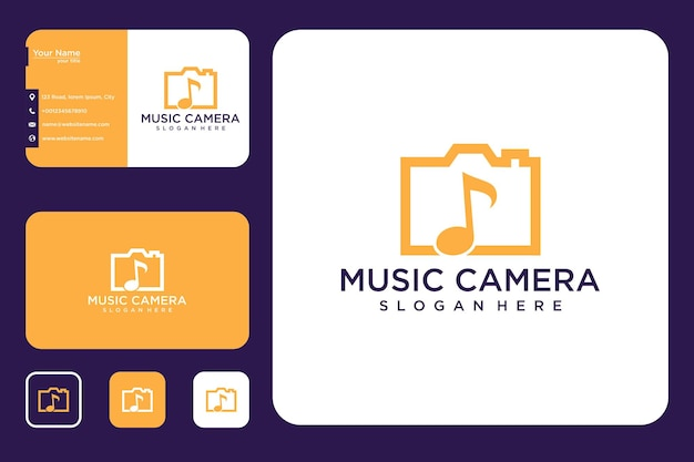 Musikkamera-logo-design und visitenkarte