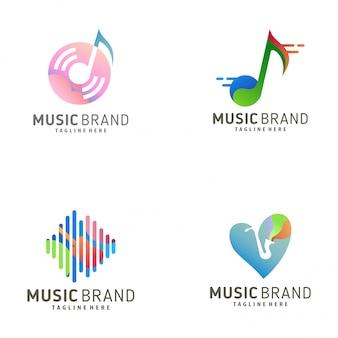 Musiklogodesign und -ikone
