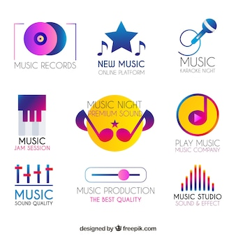 Musiklogosammlung mit steigungart