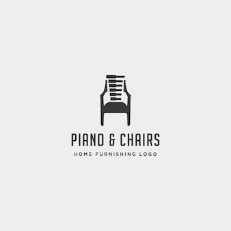 Musikmöbel logo design vektor icon illustration symbol element isoliert