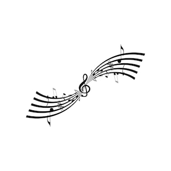 Musiknote symbol vektor-illustration-design
