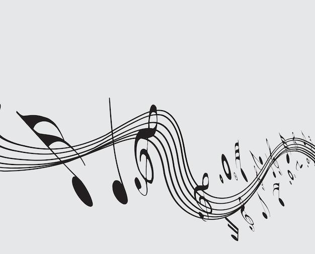 Musiknoten für designzwecke, vektorillustration