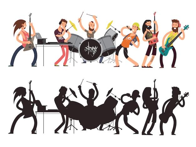 Musikperformance mit jungen musikern.