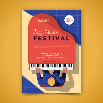 Musikplakat illustriert