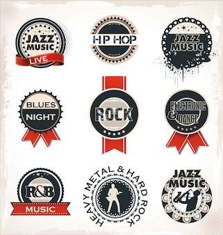 Musikstempel und etiketten