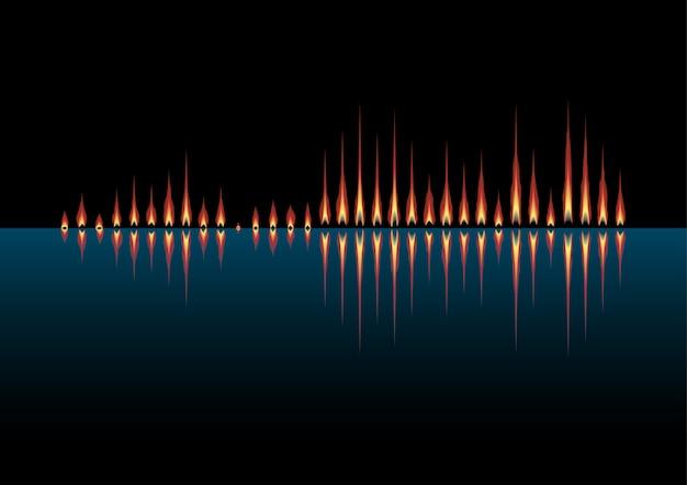 Musikwelle als küstenfeuer