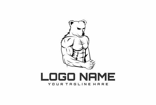 Muskulöses logo tragen