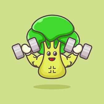 Muskulöses senfgrünes maskottchen-logo-design-illustration