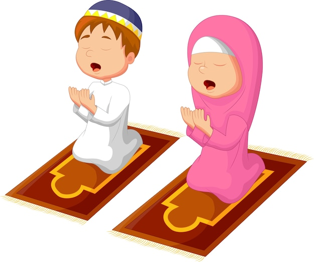 Muslim kinder beten