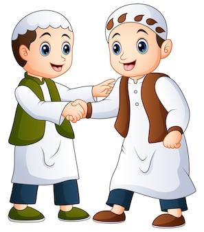 Muslim mann händeschütteln