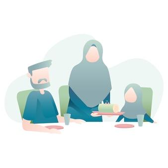 Muslimische familie