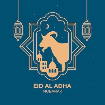 Muslimische feiertags-eid al-adha-grußkarte
