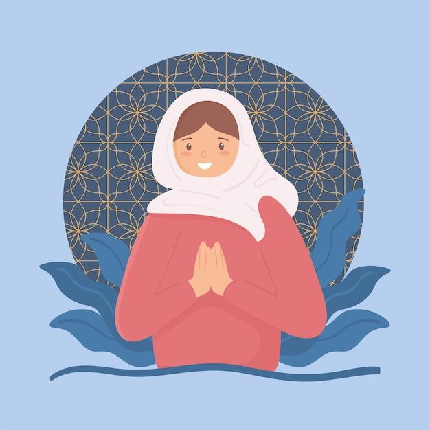 Muslimische frau betet