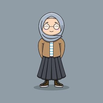 Muslimische frau mit ihrem hijab