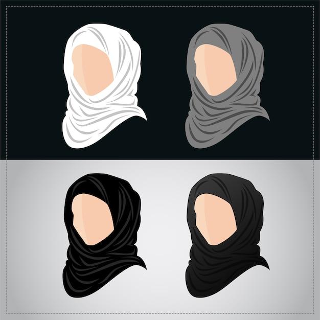 Muslimische frauen tragen hijab-set