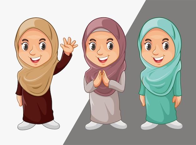 Muslimische mädchen zeichen