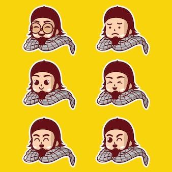 Muslimische männliche emoji-figuren