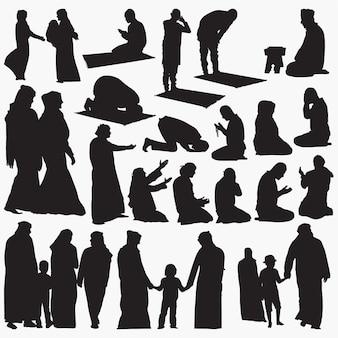 Muslimische silhouetten